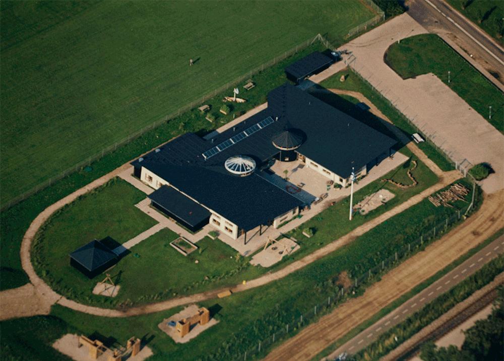 Sandslottet luftfoto, Integreret institution, Gribskov Kommune, Tisvildeleje